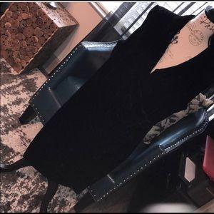 Saks Fifth Avenue Draped Velvet Dress